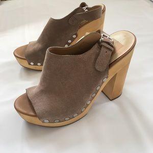 Dolce Vita Suede Chunky Platform Heels Size 8.5